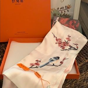 Chinese silk scarf new in box